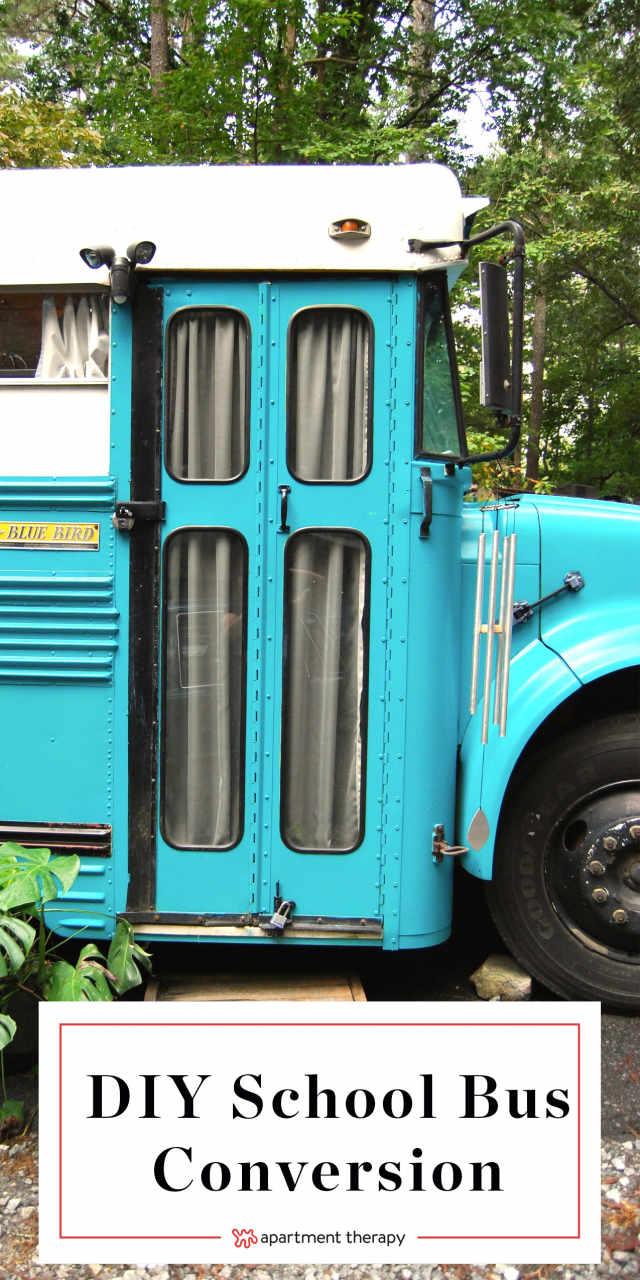House Tour A Cute Home In A Small Blue School Bus