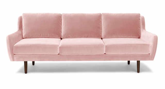 image credit article - Pink Velvet Sofa