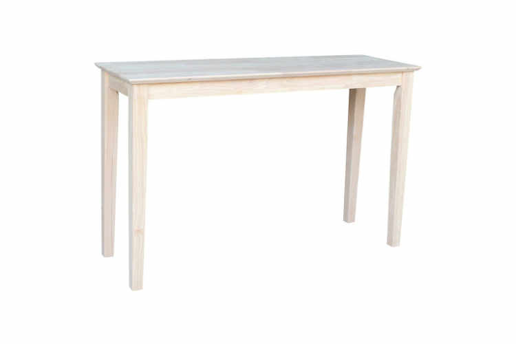 Chase Unfinished Console Table