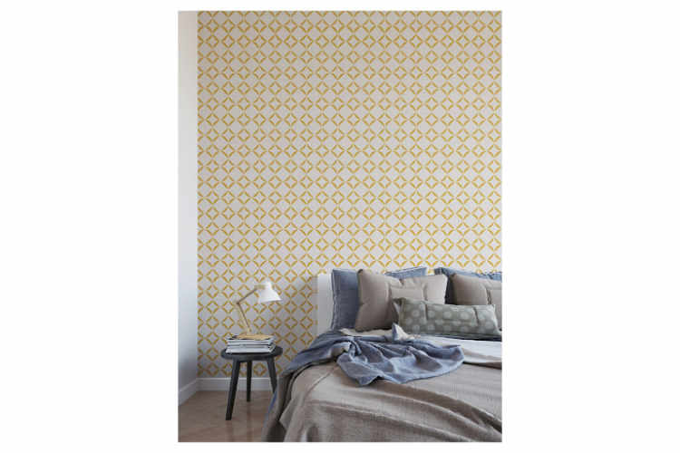 Rounded Squares Repeating Wall Stencil