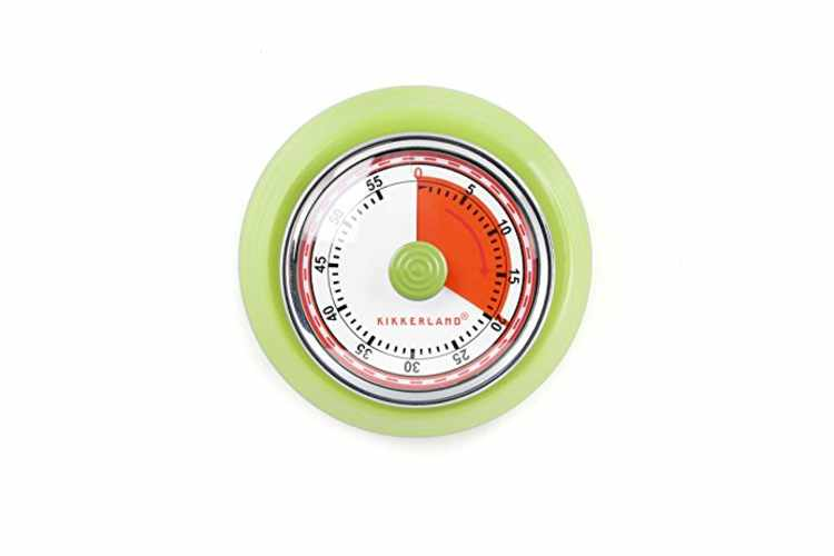 Kikkerland KT051-G Magnetic Kitchen Timer