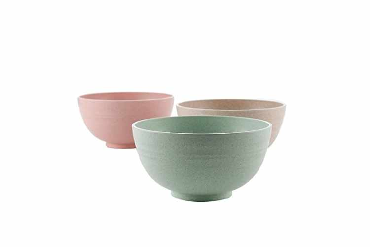 Lightweight Degradable Wheat Straw Bowls