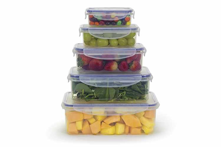 Airtight Containers with Locking Lids (Set of 5)