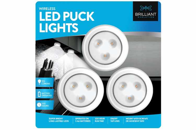 Brilliant Evolution Wireless LED Puck Lights
