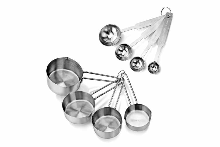 New Star Foodservice Stainless Steel Measuring Cups And Spoons Combo Set
