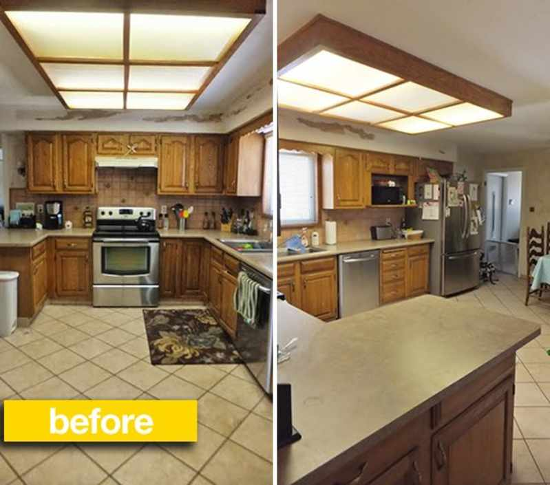 Spark Of Life Kitchen: Kitchen Before & After: From Blah Brown To Gray And White