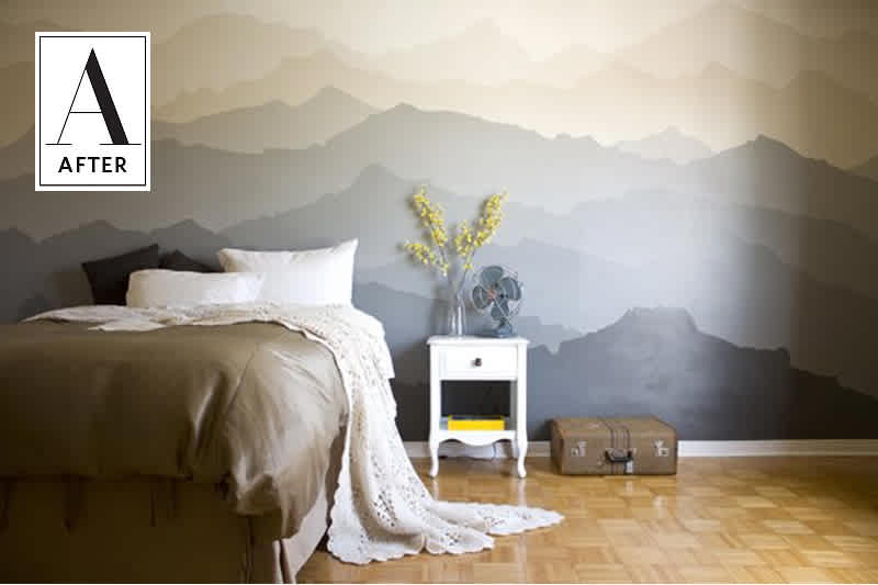 DIY wall painting to makeover your old bedroom : 8 tips to enhance your bedroom