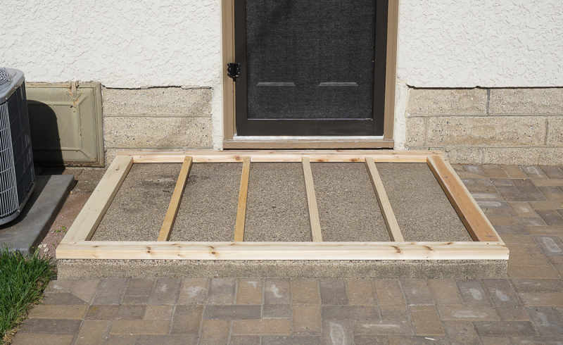how to build a ramp over cement steps