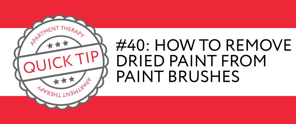 how to clean a paint brush with dried paint