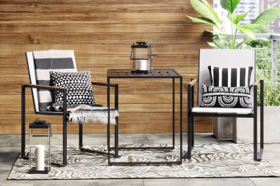 small space outdoor furniture for patios and balconies apartment therapy - Small Space Patio Furniture