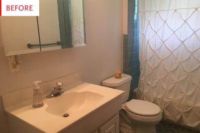cheap bathroom remodel vanity before and after apartment therapy - Bathroom Makeover