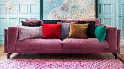 the bemz zaragoza vintage velvet slipcover in clover - Slipcover Sofa