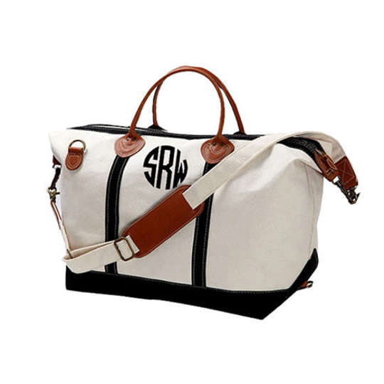 Monogram Canvas Weekender Bag by Four Bugs in a Rug at Etsy