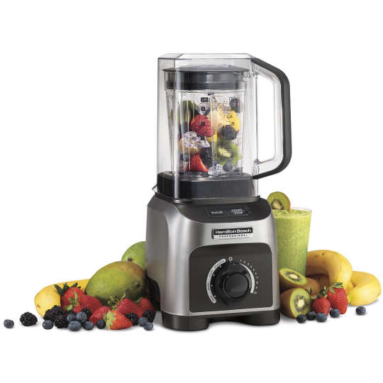Hamilton Beach 58870 1500W Quiet Shield Blender with 32 oz BPA-free Jar & 4 Programs, Silver