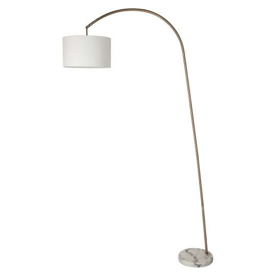 Shaded Arc Floor Lamp with Marble Base - Brass - Threshold