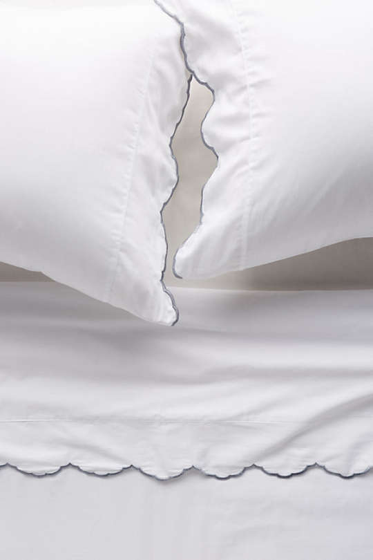 Embroidered Sateen Sheet Set