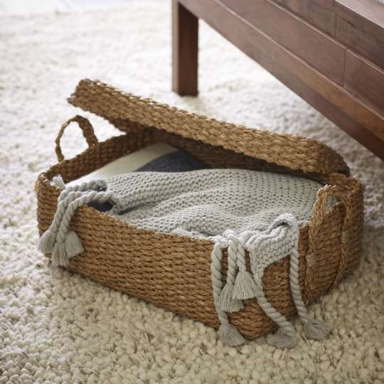 Braided Underbed Bin with Lid