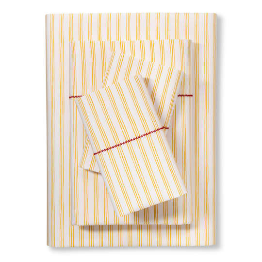 Brooklyn & Bond Fine Stripe Sheet Set in Yellow at Target