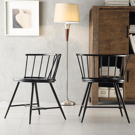 Truman Low Back Windsor Classic Side Chair, Set of Two