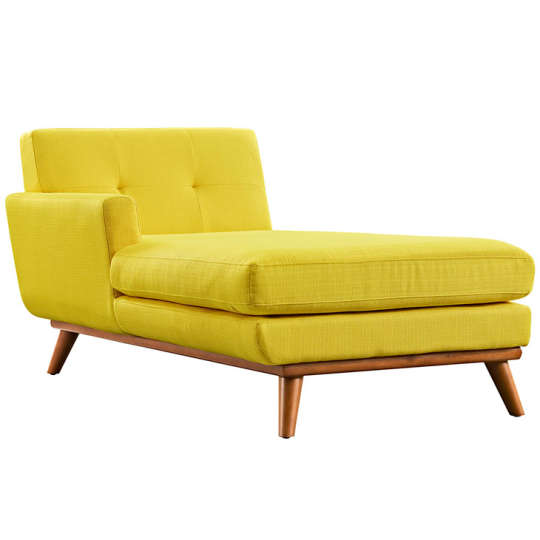 Lexmod Engage Left-Arm Chaise in Sunny