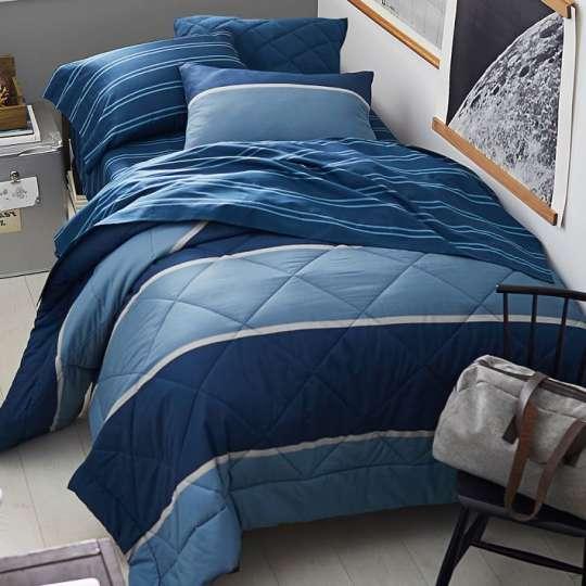 Aiden Stripe Deluxe Comforter Set