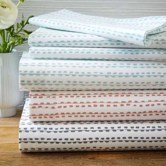 Organic Hand Drawn Strip Sheet Set at West Elm