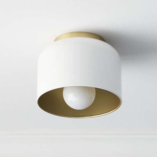 Bell White Flush Mount Lamp