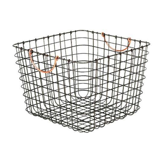 Large Milk Crate Wire Storage Bin