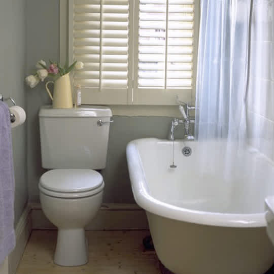 interior shutters show up a lot in british and new england bathrooms with this classic window treatment you can use shutters to provide privacy on the - Bathroom Window Treatments