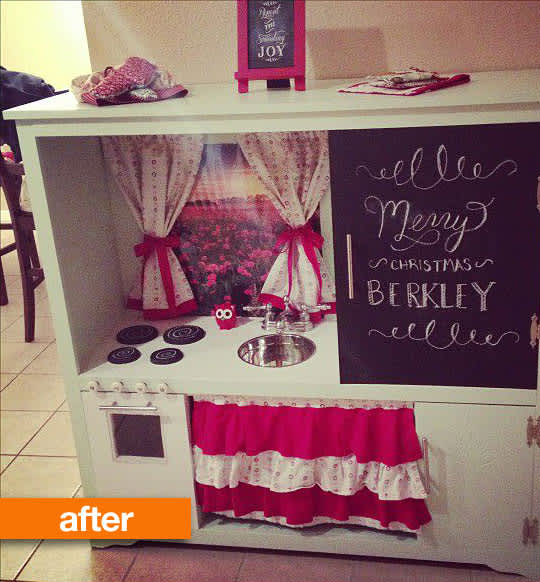 Before & After: Entertainment Center Turned Play Kitchen ...