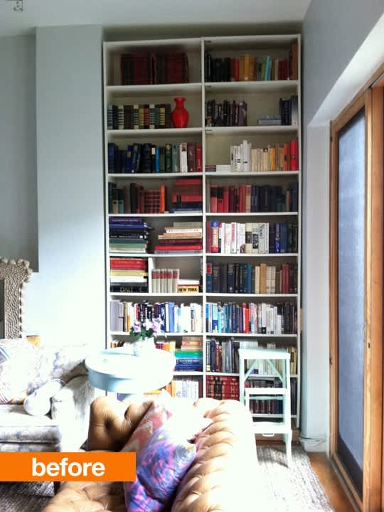 most recently she and her family used ikeas billy bookshelves in combination with lumber mouldings - Billy Bookshelves