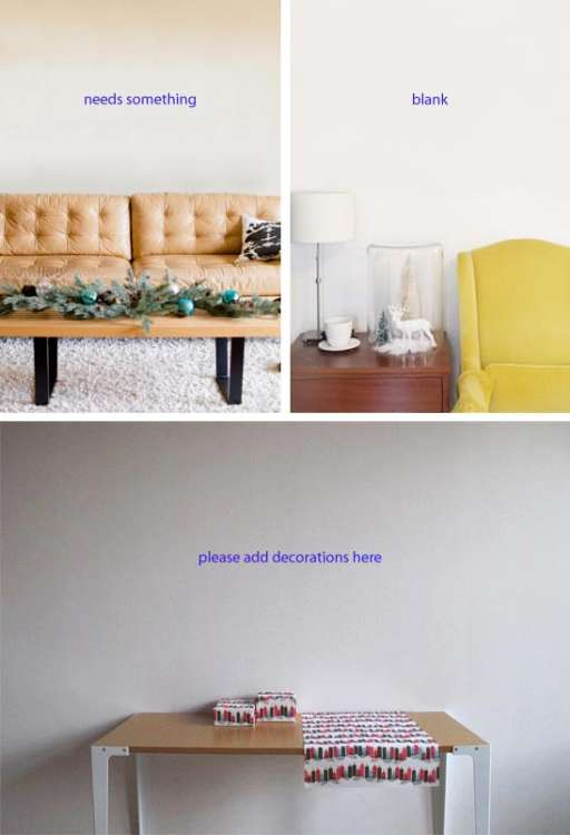 Easy, Cheap Holiday DIY Decorating Idea for Blank, Empty Wall Spaces ...