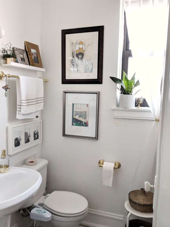 2. Towel Rod Behind The Toilet