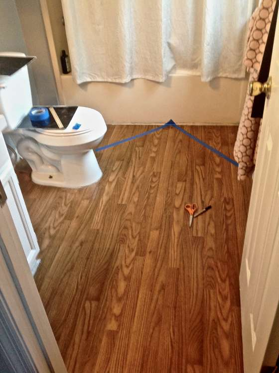 Meghans 10 Bathroom Floor Makeover Apartment Therapy
