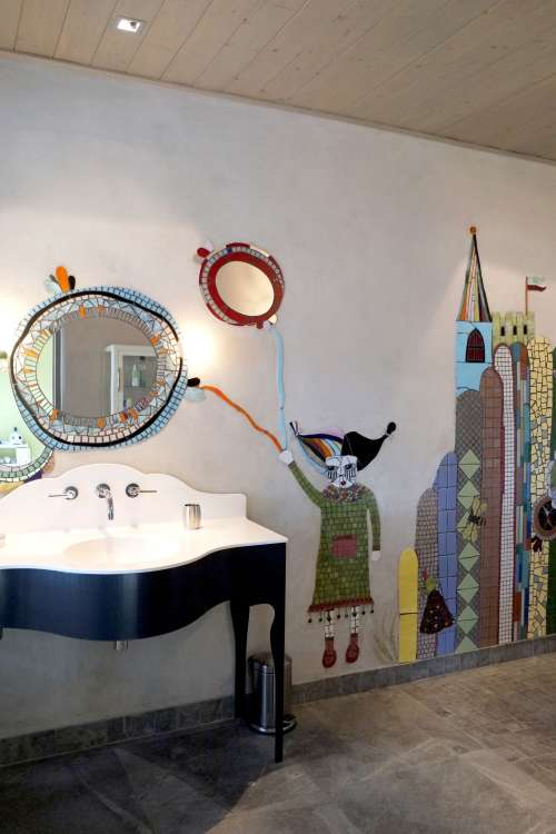 A Bolder Bathroom: Wild Wall Art Ideas | Apartment Therapy