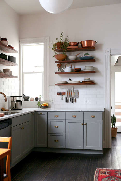 #1: Gray Cabinets Donu0027t Show Dirt Like White Cabinets.