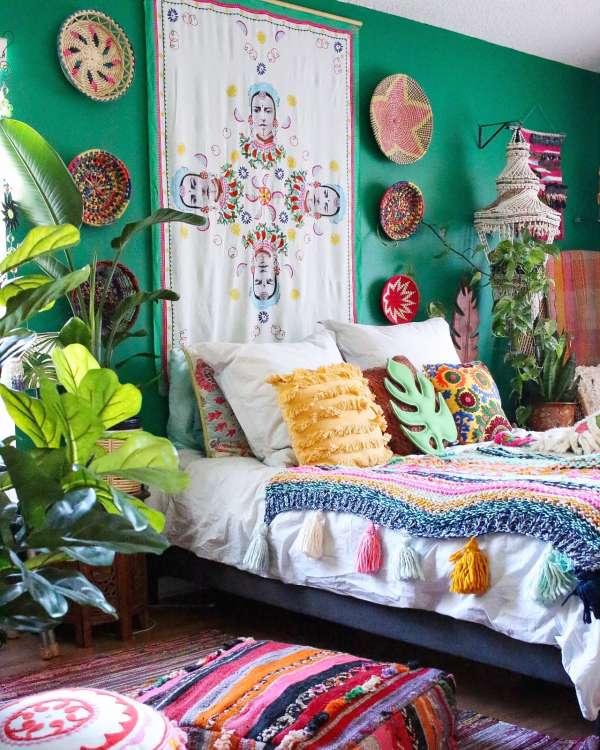 bohemian design trends bedroom decor ideas apartment therapy - Bohemian Bedroom Decor