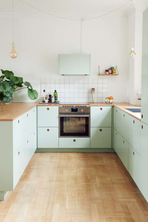 kitchens without upper cabinets should you go without apartment therapy - Kitchen Without Upper Cabinets