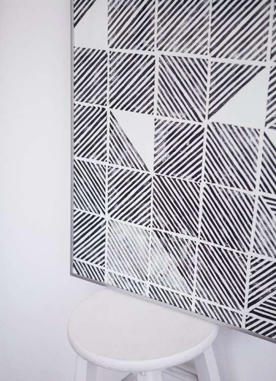 large diy wall art projects for really really cheap apartment therapy