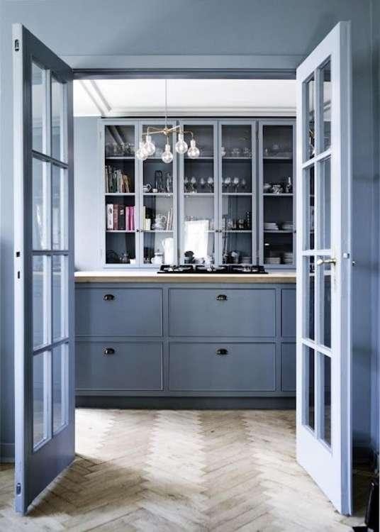 (Image Credit: Københavns Møbelsnedkeri). A Beautiful Blue Kitchen By  Københavns Møbelsnedkeri.