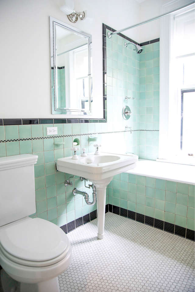 photos of white bathrooms the freshest color combination of 2017 mint amp black 19959