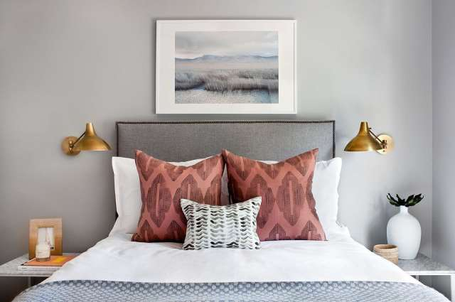 Bedroom Decorating Idea: Stylish Bedside Wall Sconces   Apartment ...