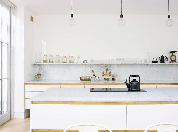 image credit t magazine - Kitchen Without Upper Cabinets