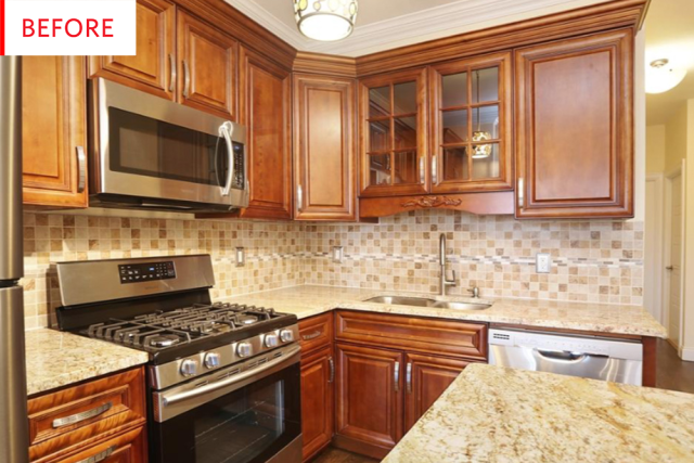 White Kitchen Cabinets - Brooklyn Remodel Before After | Apartment ...