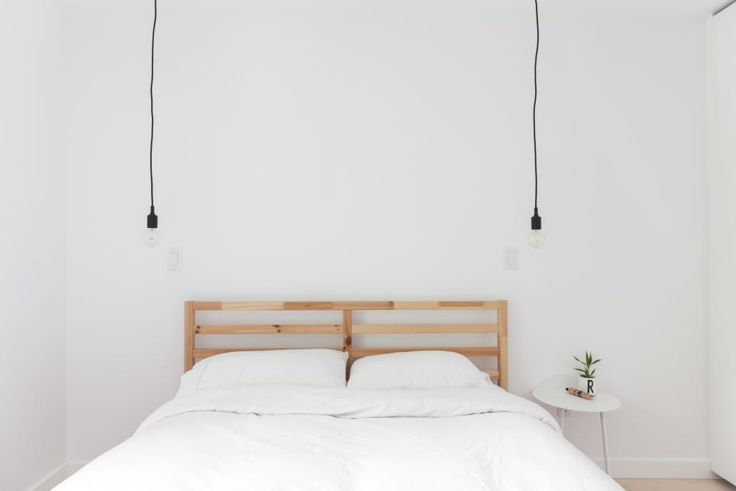 Welcome to Robyn & Sam's warm minimalist home.