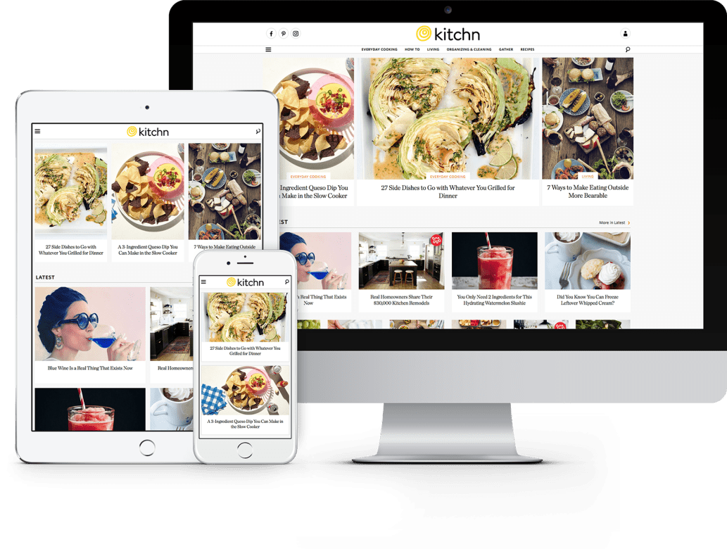 The new design of Kitchn