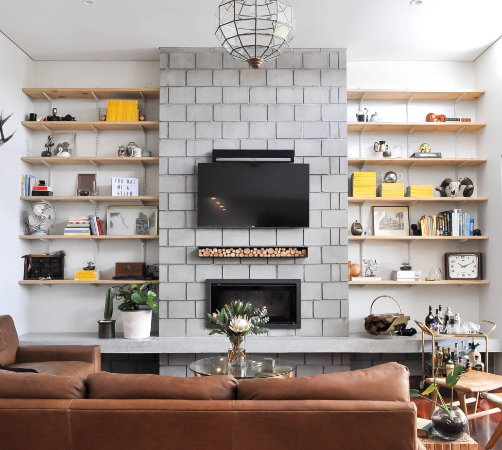 Tips for hanging a flat screen tv over a fireplace - Best size flat screen tv for living room ...