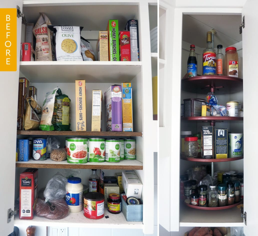 Pantry Before & After: The Amazing Power Of Bins And A