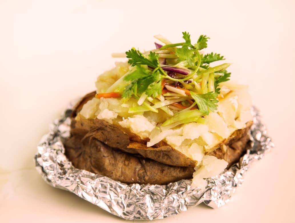 Baked Potato Stuffed With Stir Fried Sesame Slaw Kitchn