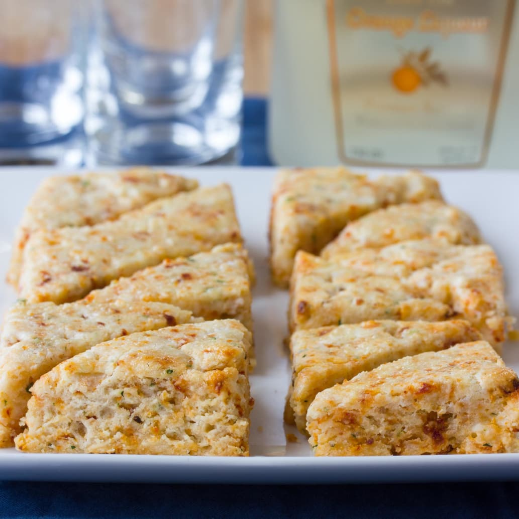 Party Recipe: Savory Scones with Goat Cheese & Sun-Dried Tomatoes